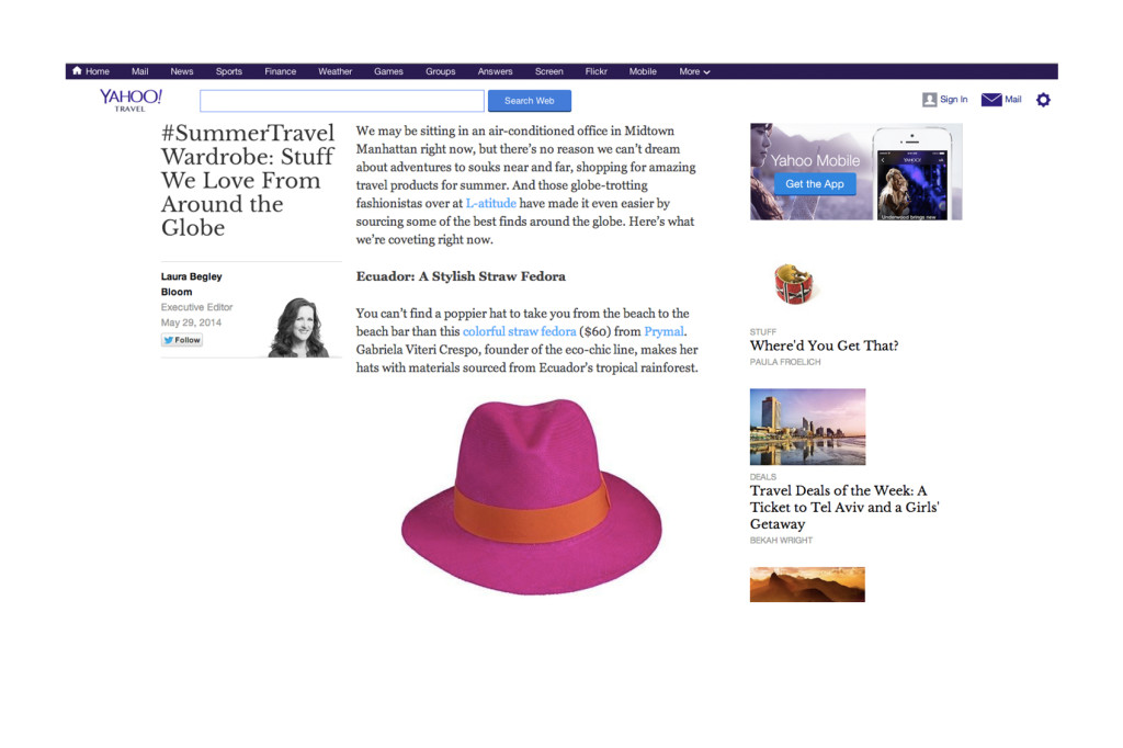 Yahoo Travel – May 2014
