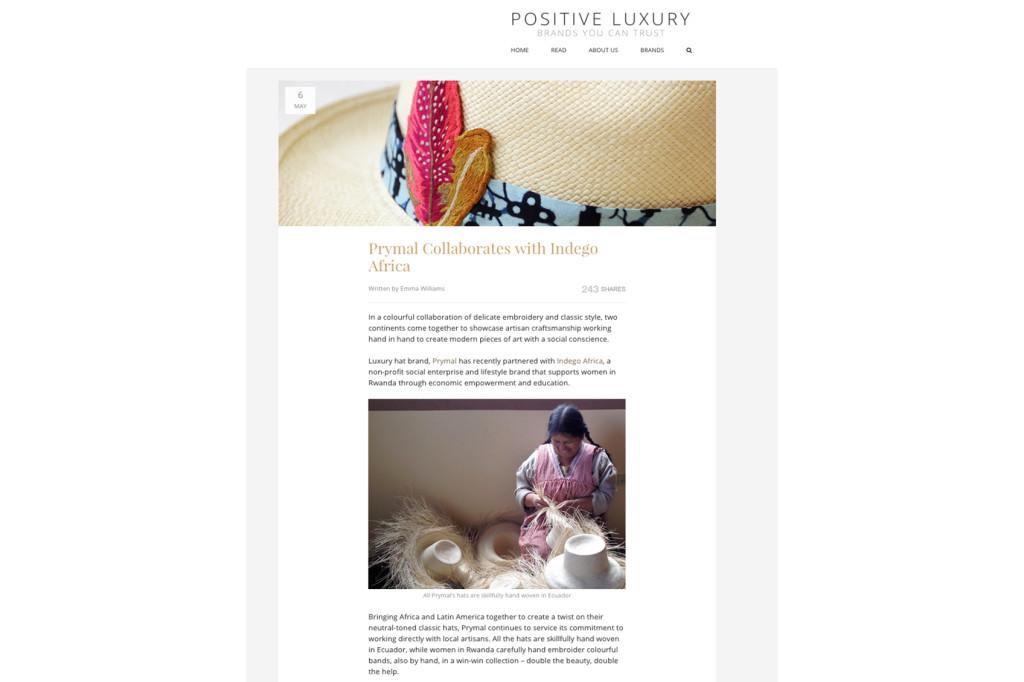 Positive Luxury – May 2015