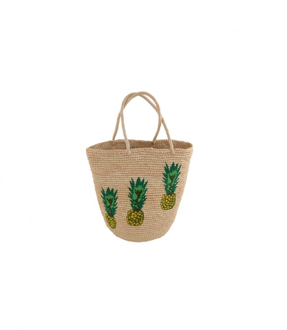 tote, beach, summer, pineapples